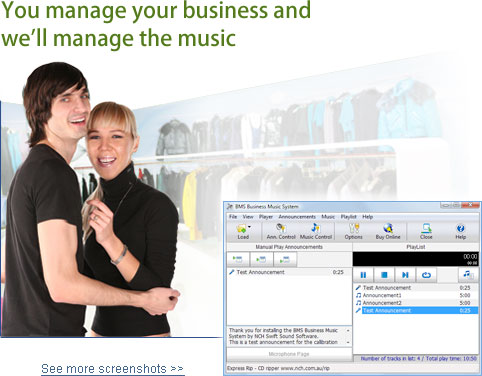 Bms business music system serial
