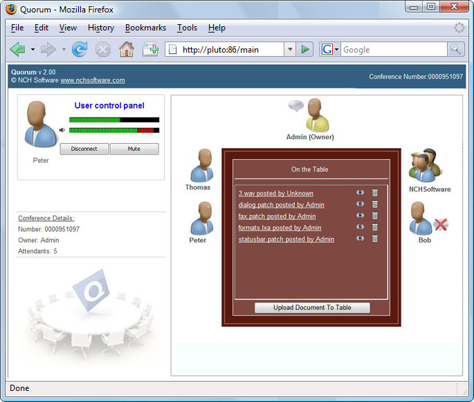 Quorum Phone Conference Server Pro full screenshot
