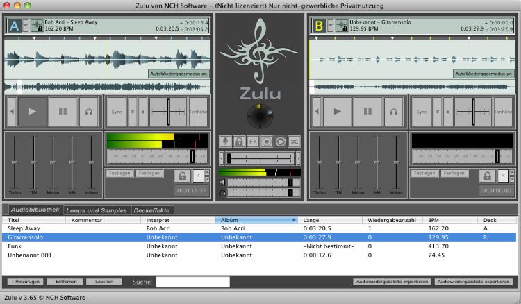 Zulu DJ-Programm Mac