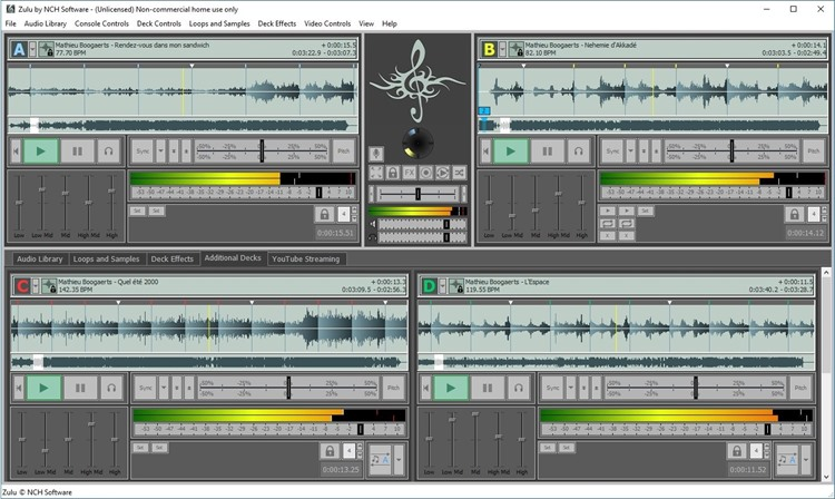Zulu DJ Software Free full screenshot