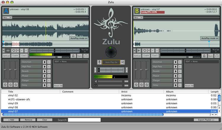 Zulu DJ Software Free for Mac full screenshot