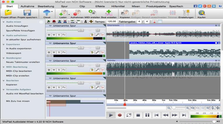 MixPad Masters Edition für Mac