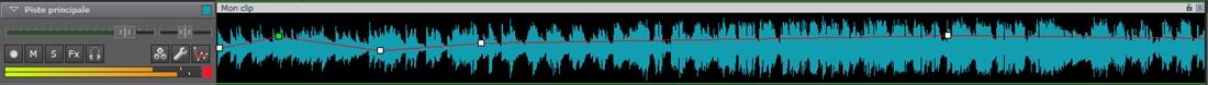 Contrôles de piste du mixeur de musique
