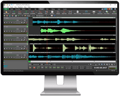 Multi-Track Recording Software  Mix Audio, Music and Voice