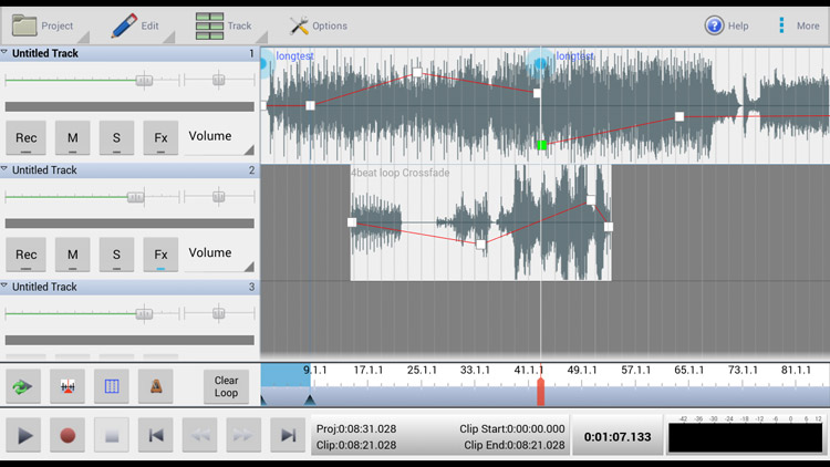 MixPad Masters Edition App allows you to create professional recordings. best Screen Shot