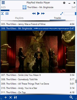 PlayPad Media Player - Music and Video Player Software