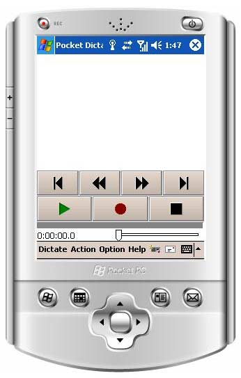 Click to view Pocket Dictate Dictation Recorder 5.13 screenshot