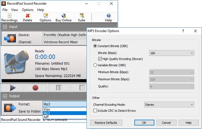 Easily Record Sound with RecordPad Audio Recorder Software