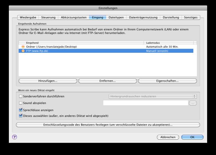 Vorschau Express Scribe Mac - Bild 2