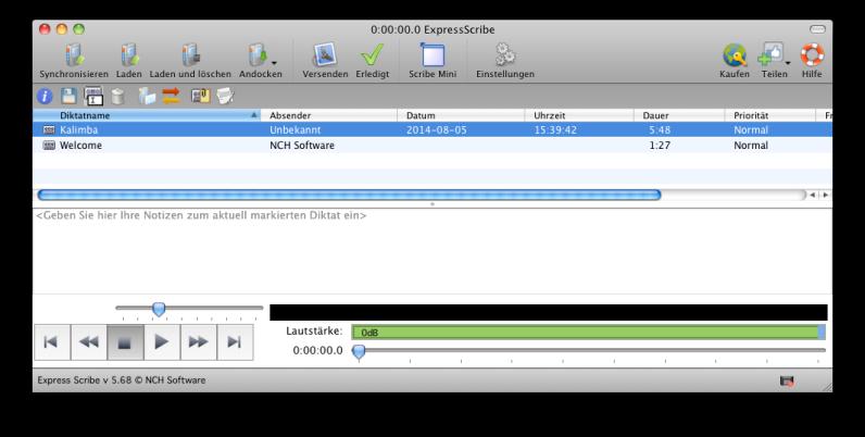 Vorschau Express Scribe Mac - Bild 1