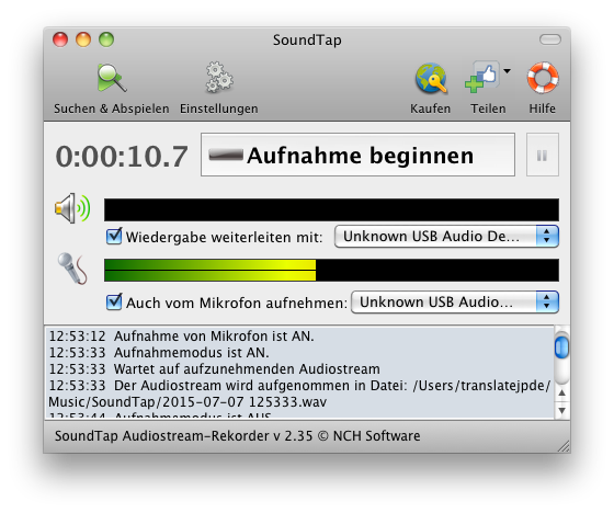 SoundTap Streaming Audio-Recorder Mac