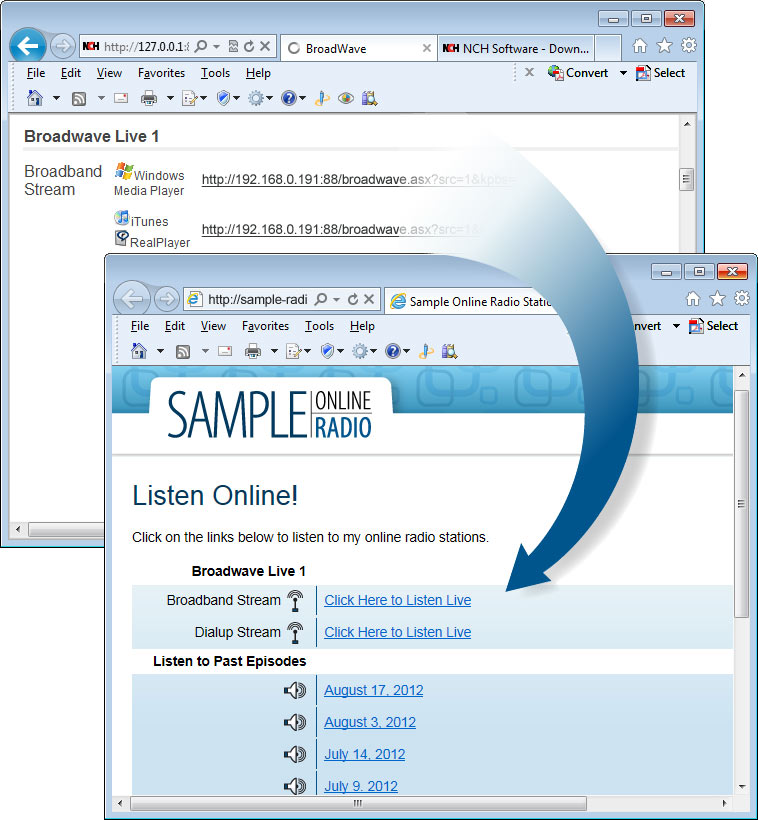 Click to view BroadWave Streaming Audio Server 1.30 screenshot