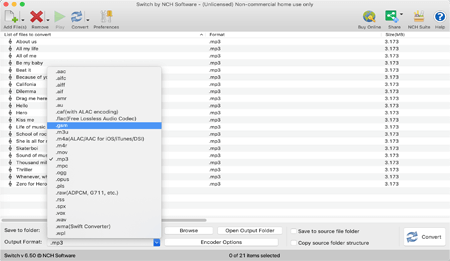 NCH Switch Plus 9.34 Mac 破解版 音频文件转换工具