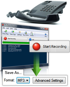 TRx Free Computer Phone Call Recording Software