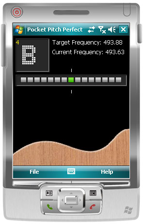 PitchPerfect Guitar Tuner for Pocket PC full screenshot