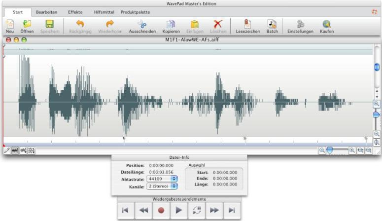 WavePad Gratis Audio-Editor für Mac