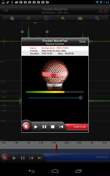 WavePad Audio Editing Free for Android full screenshot