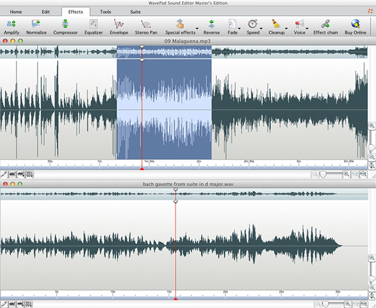 WavePad - Music editor software for Mac OS