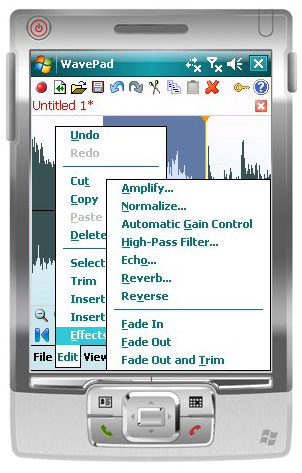 Wavepad Free Audio Editor for Pocket PC